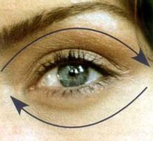 Массаж вокруг глаз